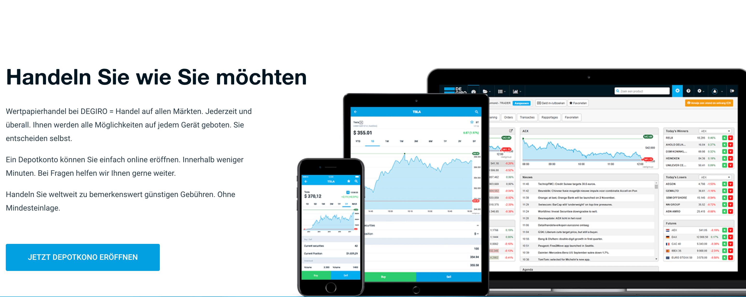 Sowohl das Demokonto, als auch das Trading-Konto, können Anleger von ihren mobilen Endgeräten aus steuern